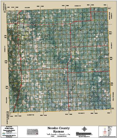 Neosho County Kansas 2015 Aerial Map