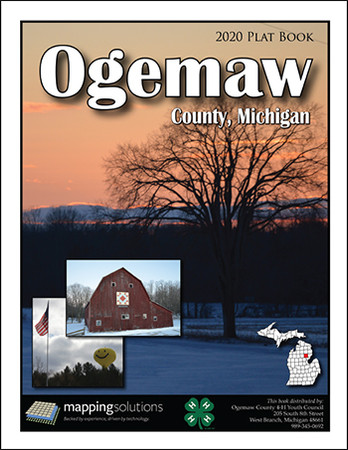 Ogemaw County Michigan 2020 Plat Book