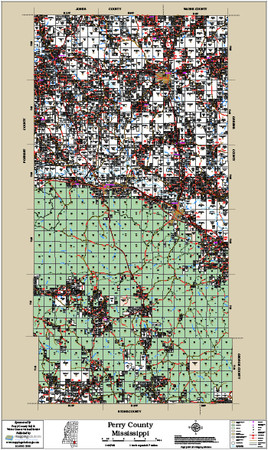 Perry County Mississippi 2016 Wall Map