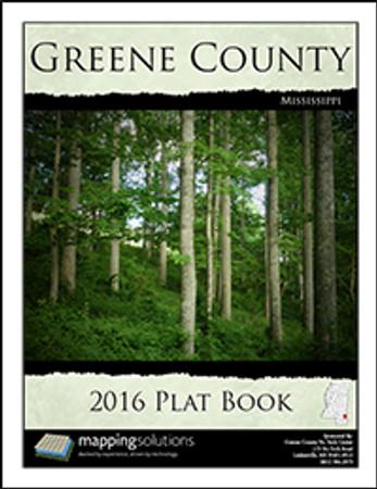 Greene County Mississippi 2016 Plat Book, Greene County Plat Map ...