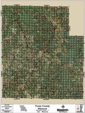 Map Of Texas County.Texas County Missouri 2016 Aerial Map Texas County Missouri 2016