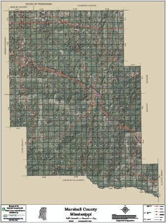 Marshall County Mississippi 2017 Aerial Map