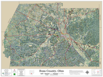 Ross County Ohio 2018 Aerial Wall Map Ross County Ohio 2018 Plat