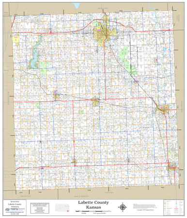 Labette County Kansas 2019 Wall Map