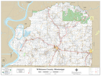 Wilkinson County Mississippi 2019 Wall Map