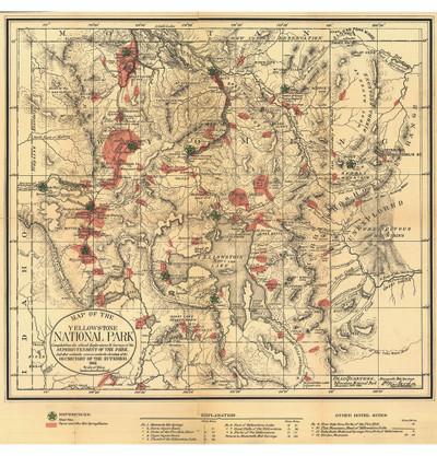 Yellowstone National Park 1881 Map