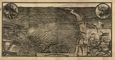 St. Louis, MO Railroad 1876 Map