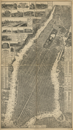 New York, NY 1879 Map