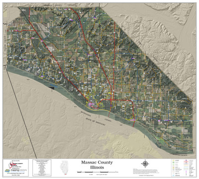 Massac County Illinois 2020 Aerial Wall Map