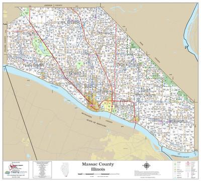 Massac County Illinois 2020 Wall Map