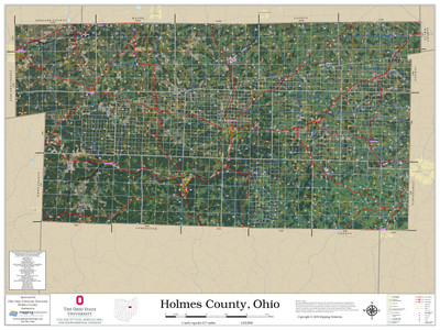 Holmes County Ohio 2020 Aerial Wall Map