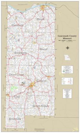 Gasconade County Missouri 2021 Wall Map