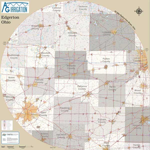Mapping Solutions Custom Radius Map