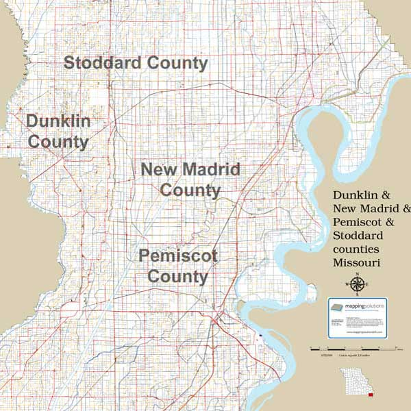 Mapping Solutions Custom Multi-County Map