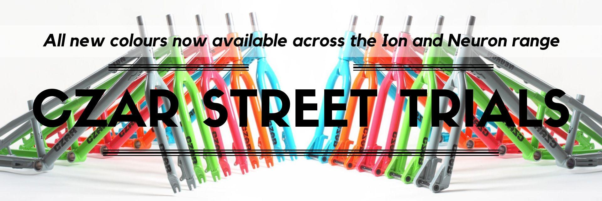 Czar Street Trials Bikes - new colours available