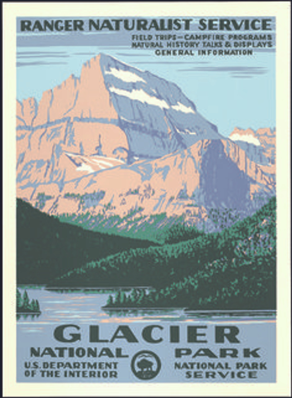 Wpa Poster Glacier National Park Conservancy