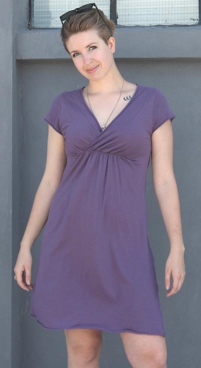 Lucia Dress - smoky purple
