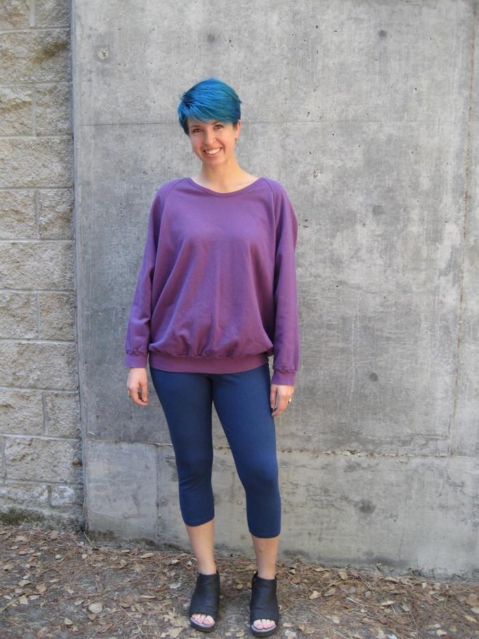 Cropped Leggings and Ragland Sweatshirt