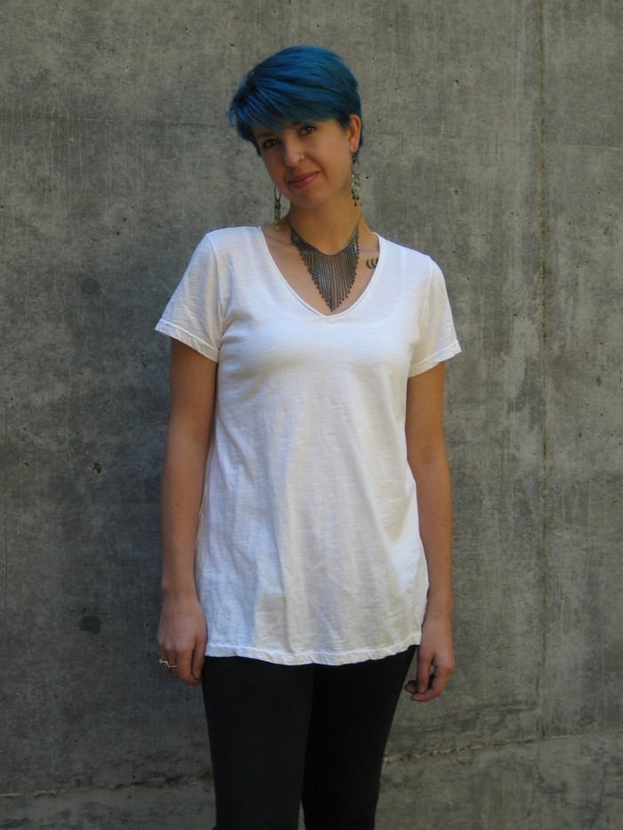 Model wears a medium, pictured in white.