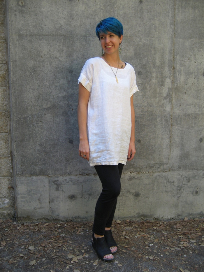 Tina Tunic in white