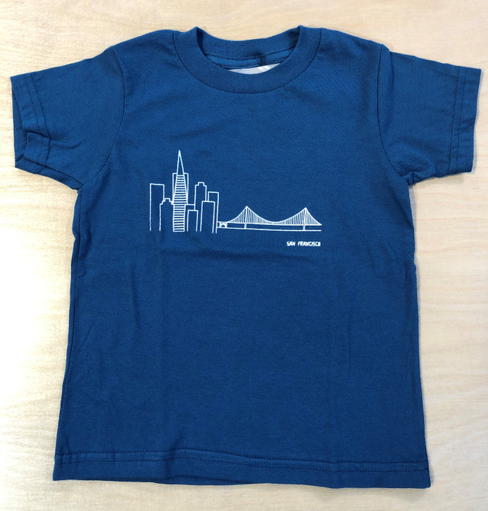Kid's Organic Cotton T-Shirt with Skyline Print