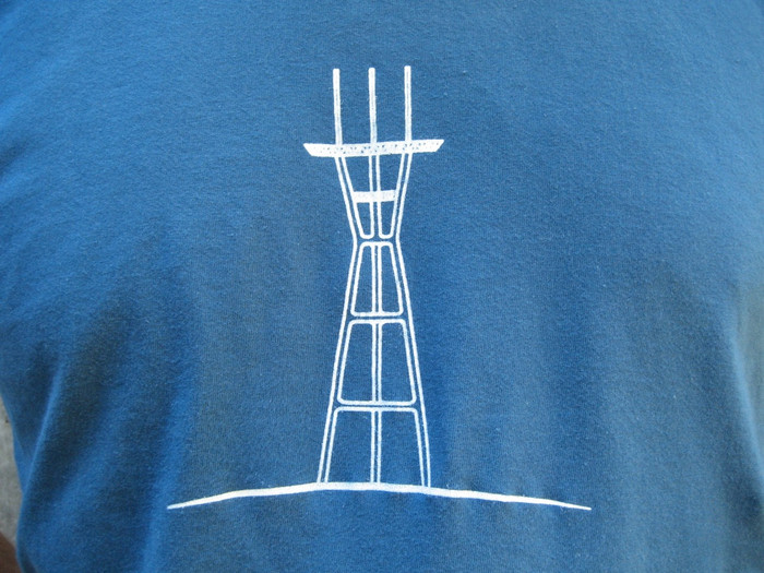 Unisex Tee with Sutro Tower - Organic