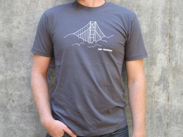 Unisex Tee with Golden Gate Bridge Design