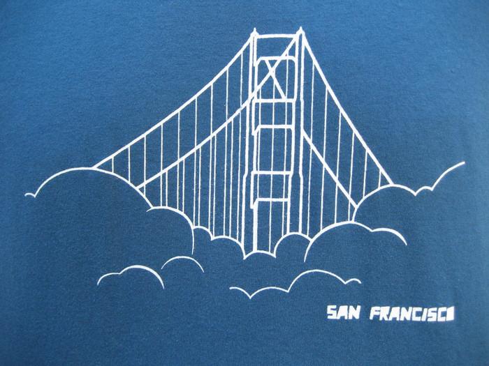 Unisex Tee with Golden Gate Bridge - Organic