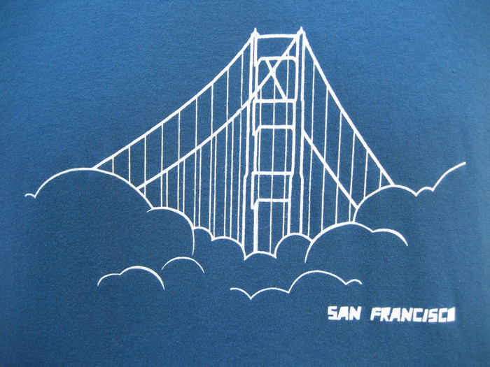 Unisex Tee with Golden Gate Bridge - Organic