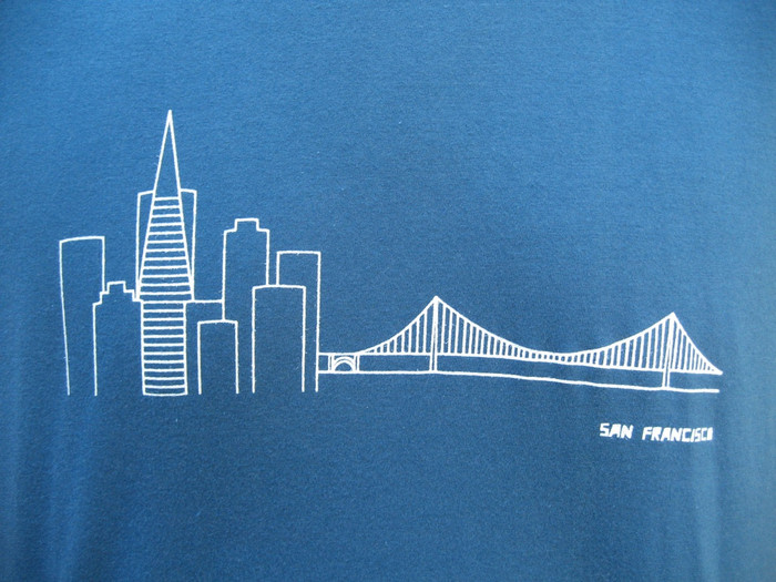 Unisex Tee with Skyline Design - Organic