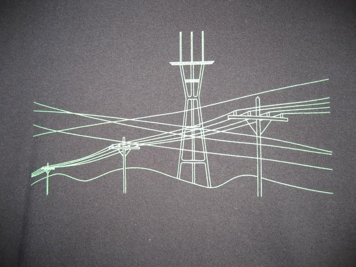 Unisex Tee with Wires Design - Organic