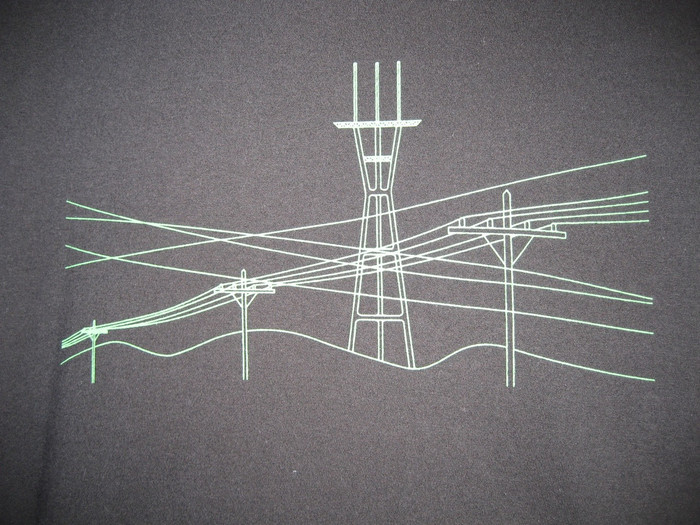 Unisex Tee with Wires Design - Organic