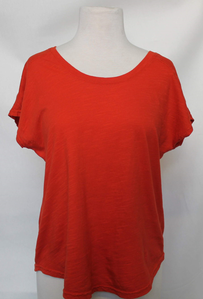 Cyrene Tee - front view - in Orange (2020)