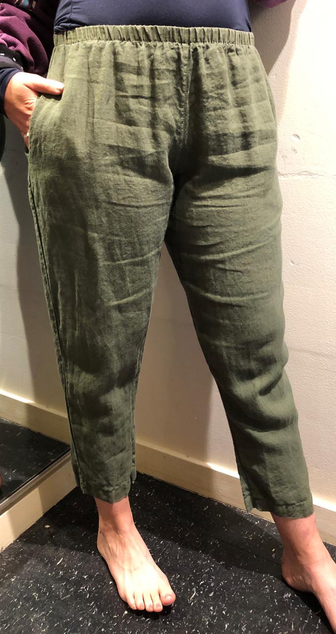 Linen Carol Pants in Moss