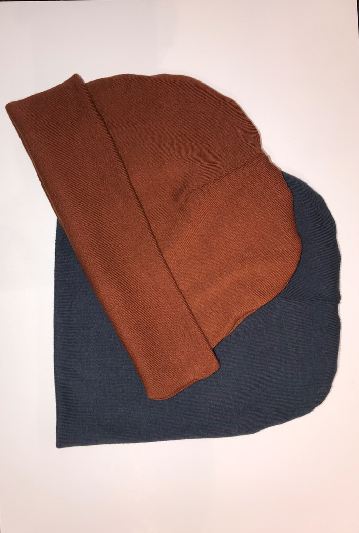Beanies, folded and not folded brim
