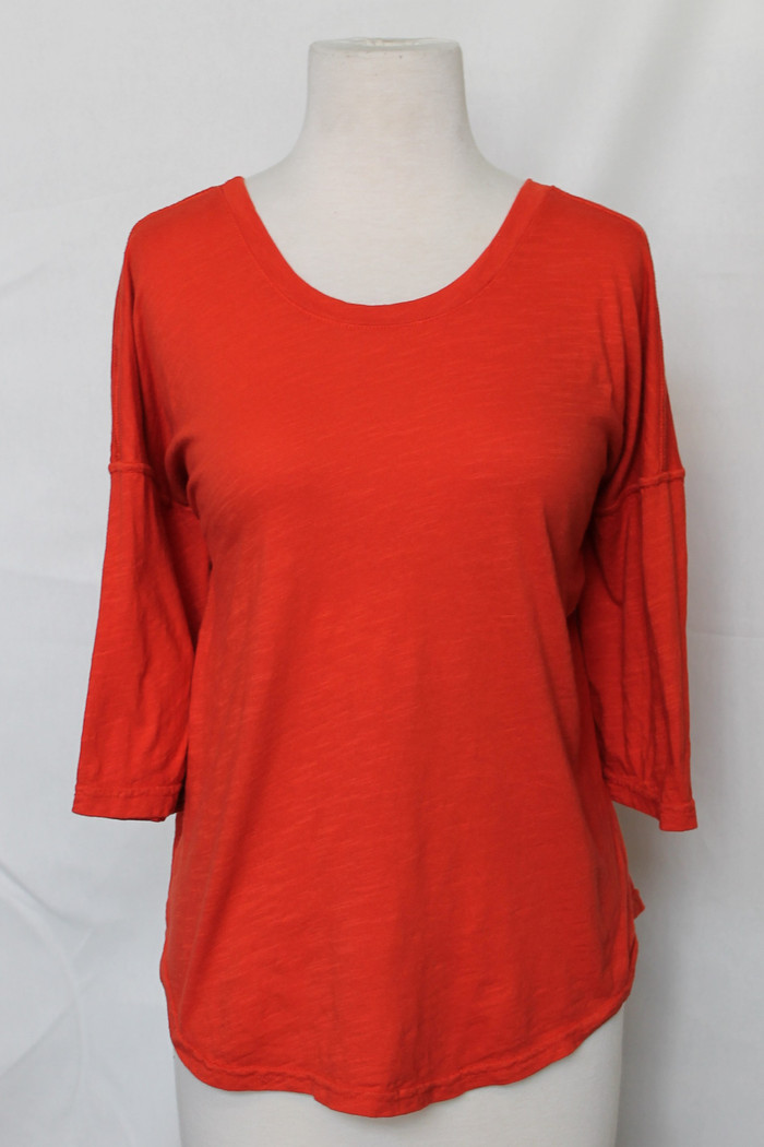 Elaine slub top - in Orange (2020)