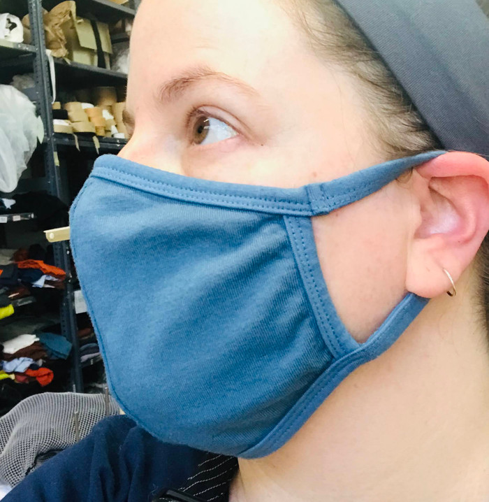 Facemask with Lycra/Cotton Ear Loops - medium/large