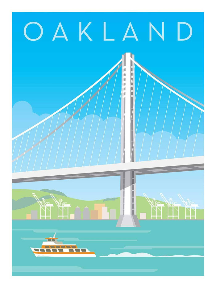 "Poster - Oakland Bay Bridge - 8""x10"""