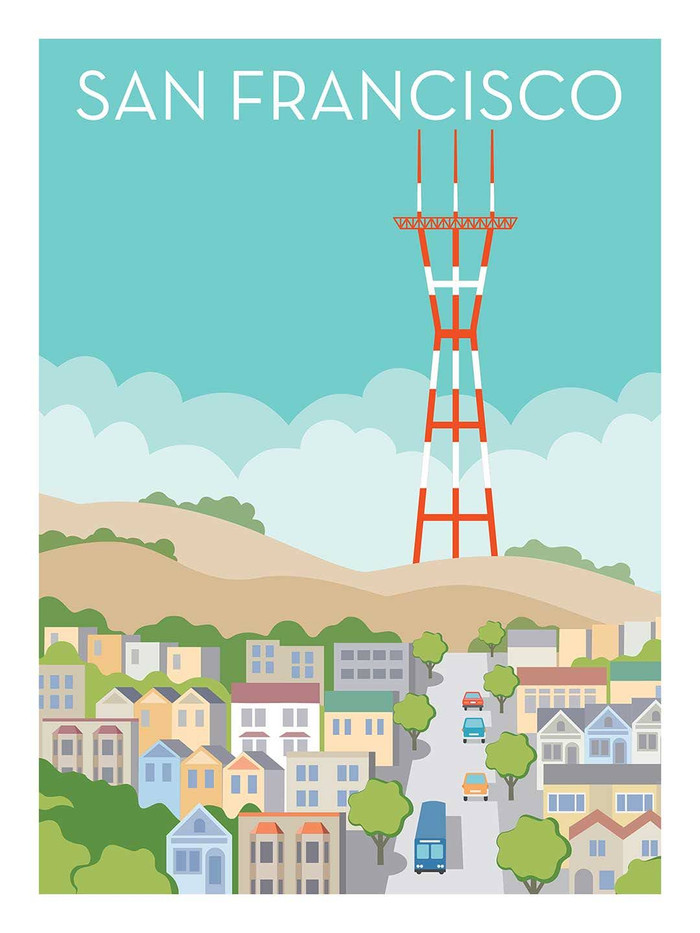 """Poster - Sutro Tower - 8""""x10"""""""