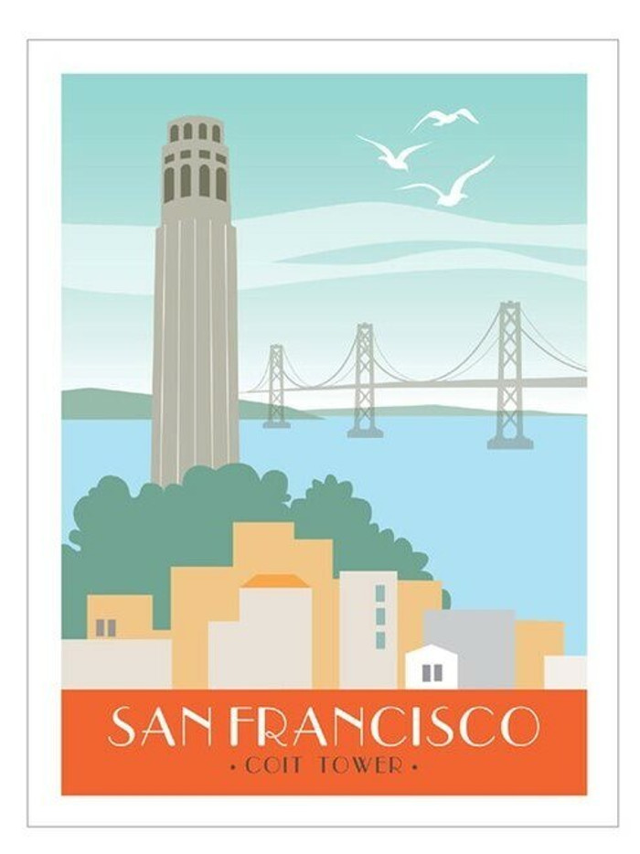 "Poster - Coit Tower - 8""x10"""