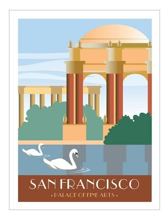 "Poster - Palace of Fine Arts - 8""x10"""
