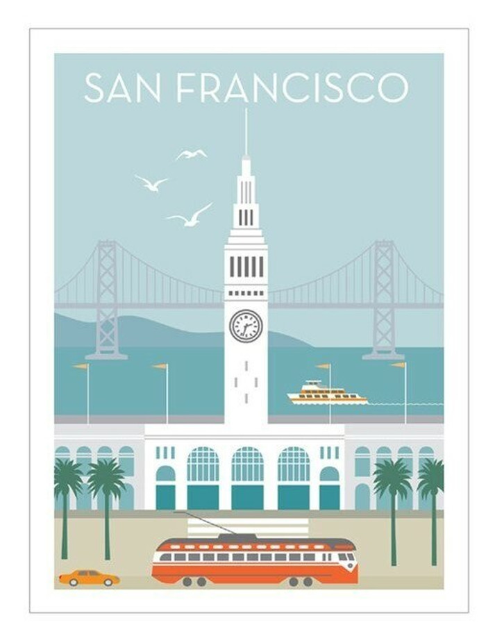 """Poster - Ferry Building - 8""""x10"""""""