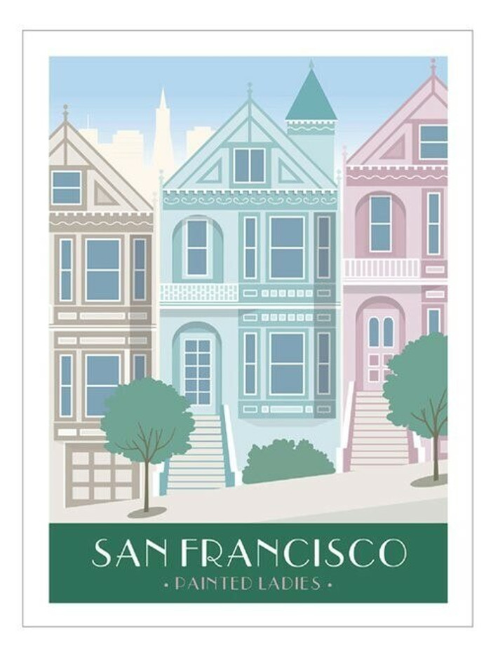 "Poster - Painted Ladies - 8""x10"""