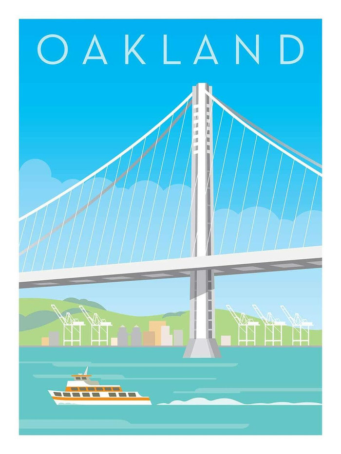 "Poster - Oakland Bay Bridge - 18""x24"""