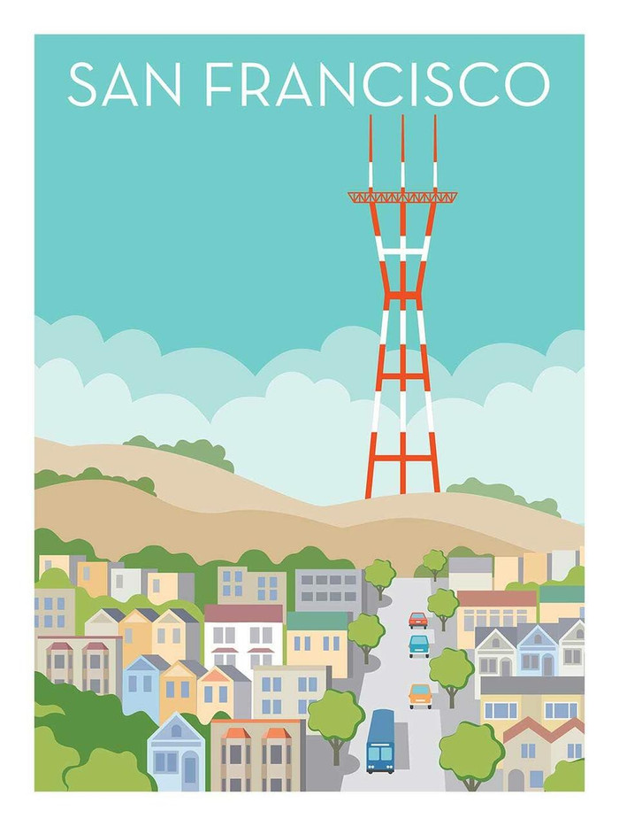 "Poster - Sutro Tower - 18""x24"""