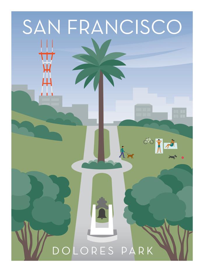 """Poster - Dolores Park - 18""""x24"""""""
