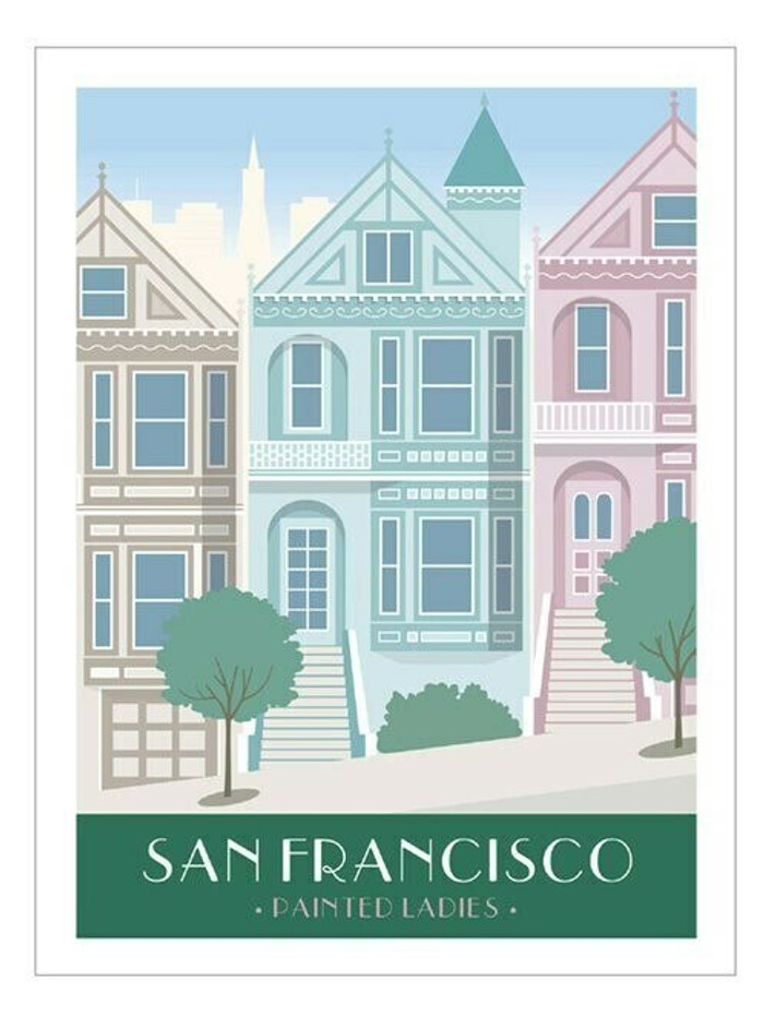 "Poster - Painted Ladies - 18""x24"""