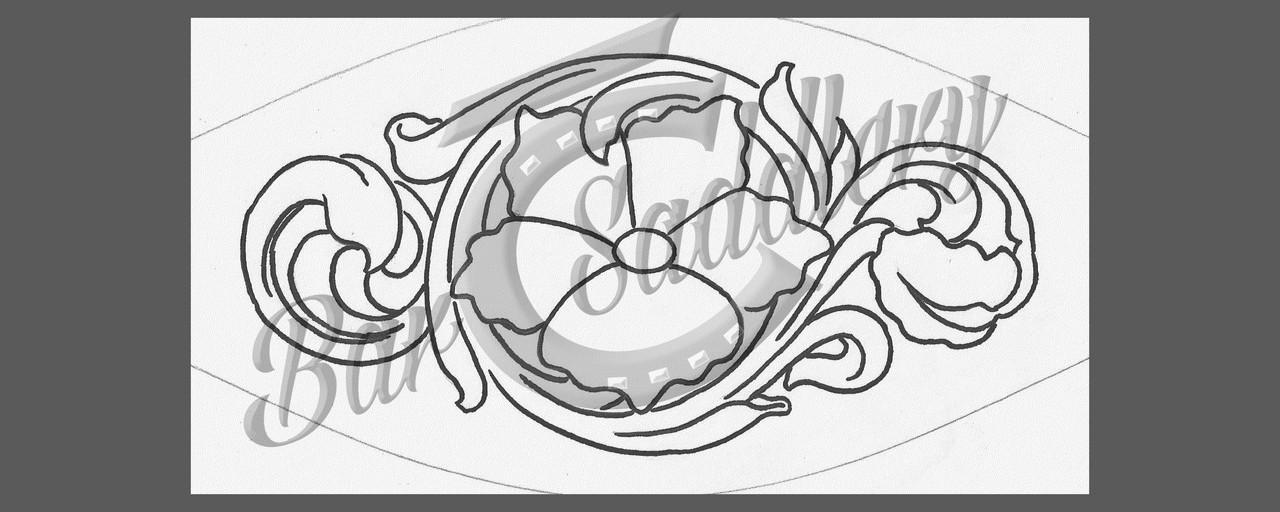 Bronc Nose Band Floral Tooling Pattern 1 Bar C Saddlery