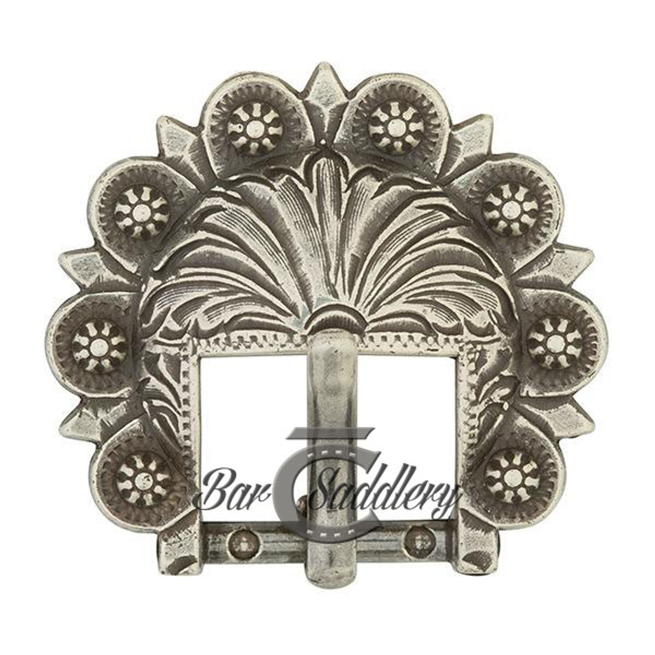 Berry Concho Buckle Antique Silver 3 4
