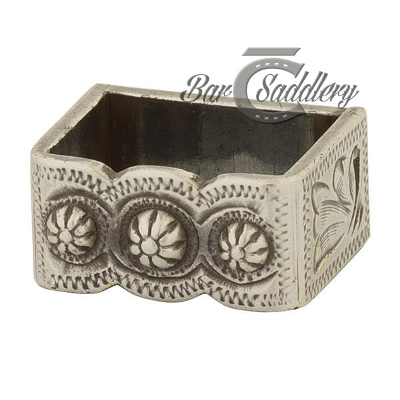 Loop For Berry Concho Buckle Antique Silver 3 4